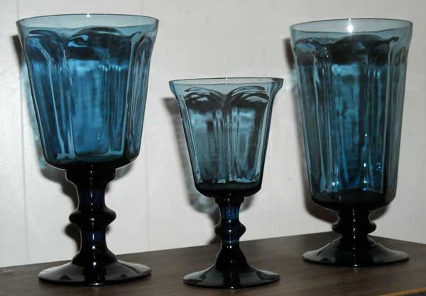 Lenox Antique Blue Lenox Crystal & Lenox Crystal Antique Dark Blue Glassware for sale Wine Stems ...
