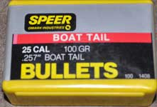 SPEER 25 CALIBER BT