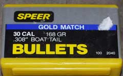 SPEER 30 Cal Gold Match Top