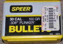 SPEER 30 Cal Plinkers New Box