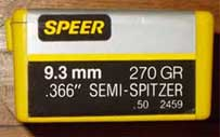 SPEER 9.3MM Bullets